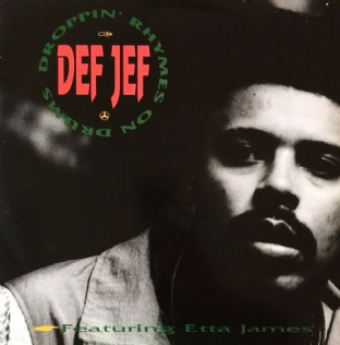 "Def Jef ft Etta James - Droppin' Rhymes On Drums (12"") (G-VG/VG-)"